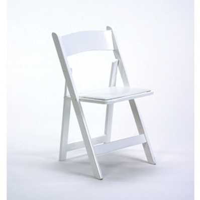 Chair, White Resin