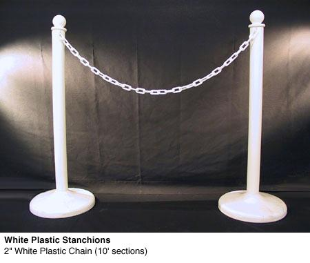 Stanchions with Chain